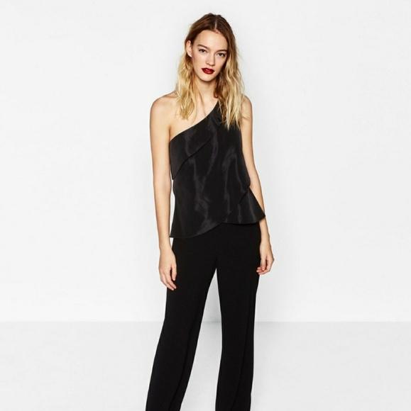 63b03887807f1a Zara Tops | One Shoulder Top | Poshmark